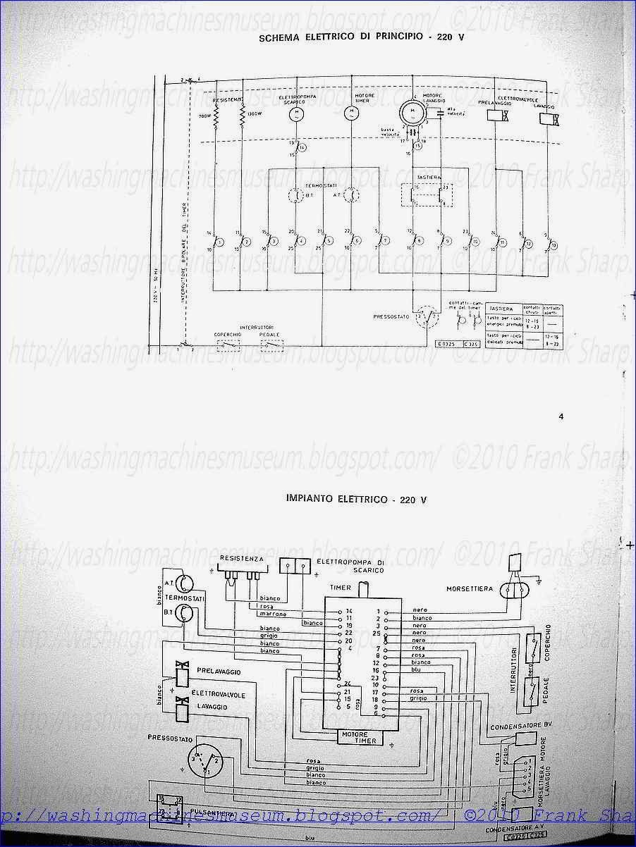 Washer Rama Museum Rex Zanussi Superautomatic P5 Pn5 Timer Manufacturing Transformer Wiring Diagram Click On Pictures To Enlarge Them