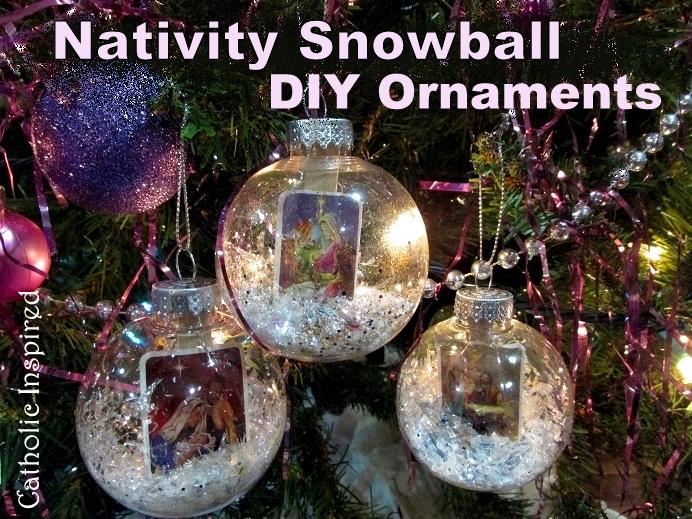 diy christmas balls holy innocents nativity epiphany so many creative options - Plastic Christmas Balls