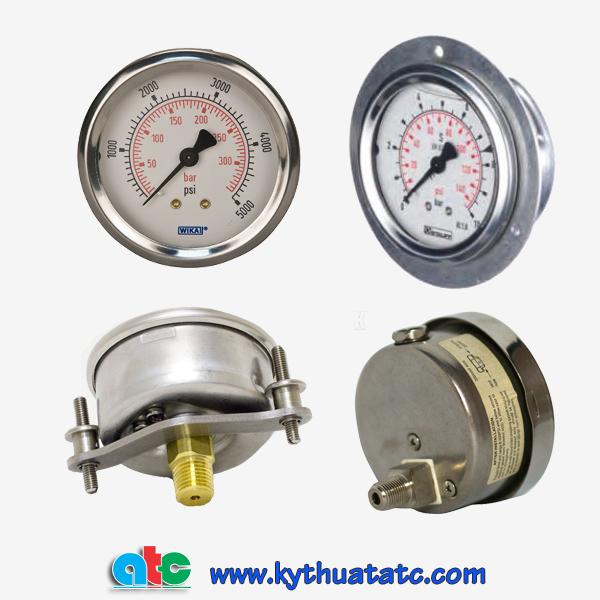 Đồng hồ áp suất dầu dạng chân sau các chủng loại