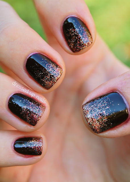 China Glaze On Safari nail art - glitter gradient with Prey Tell and I Herd That