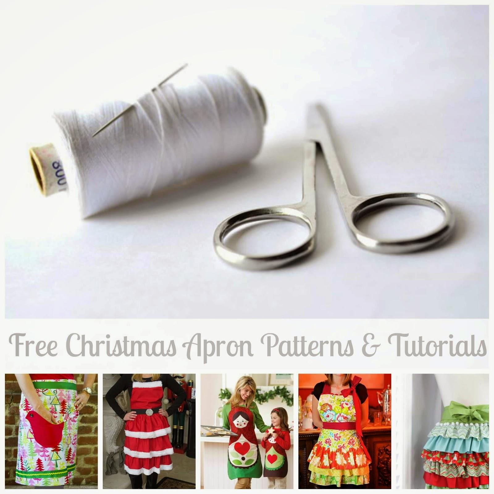 20 Christmas Aprons ~ Free Pattern Roundup