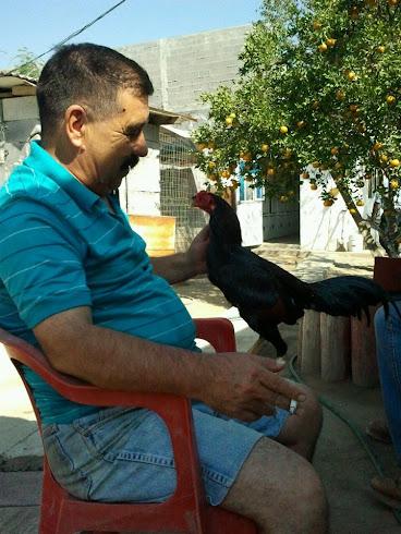 Mi Paere con el pollon Serapio