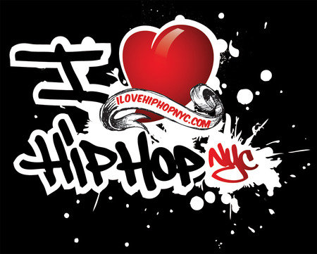 Graffiti I Love Hip Hop Wallpaper || Graffiti Tutorial