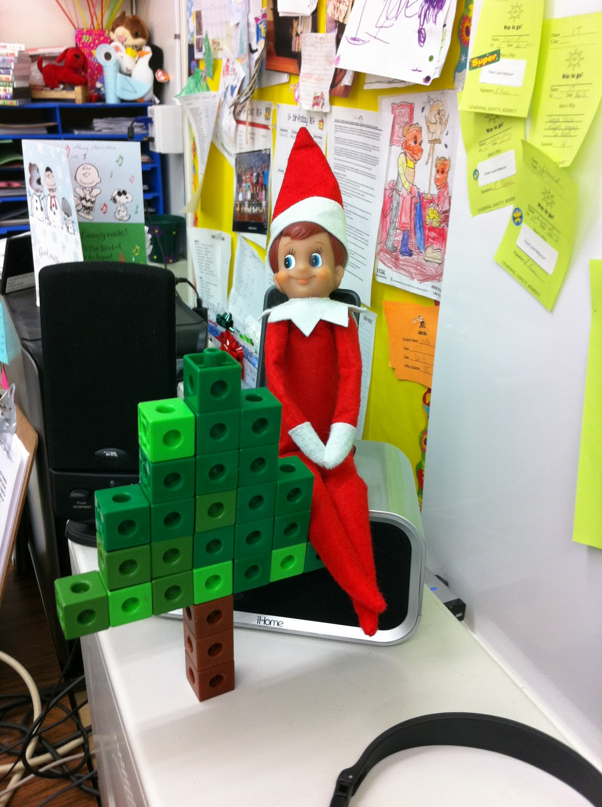 Classroom Elf Ideas ~ First grade garden currently december