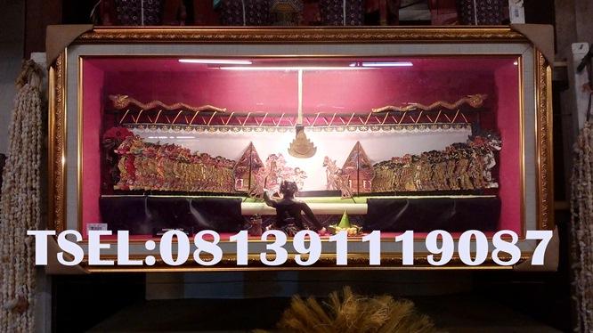 Jual Wayang Kulit Jogja- Solo Kipas Lipat Souvenir Murah