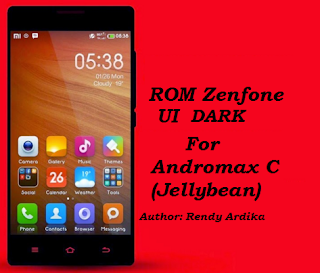 (Update) Custom ROM Zenfone UI Dark For Andromax C Jellybean