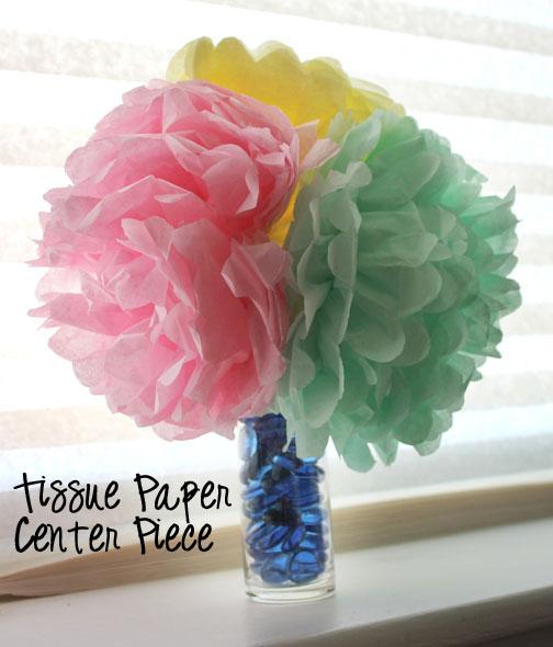 Family Love Home Tissue Paper Flowers