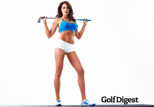 Holly Sonders Golf Digest Cover Girl