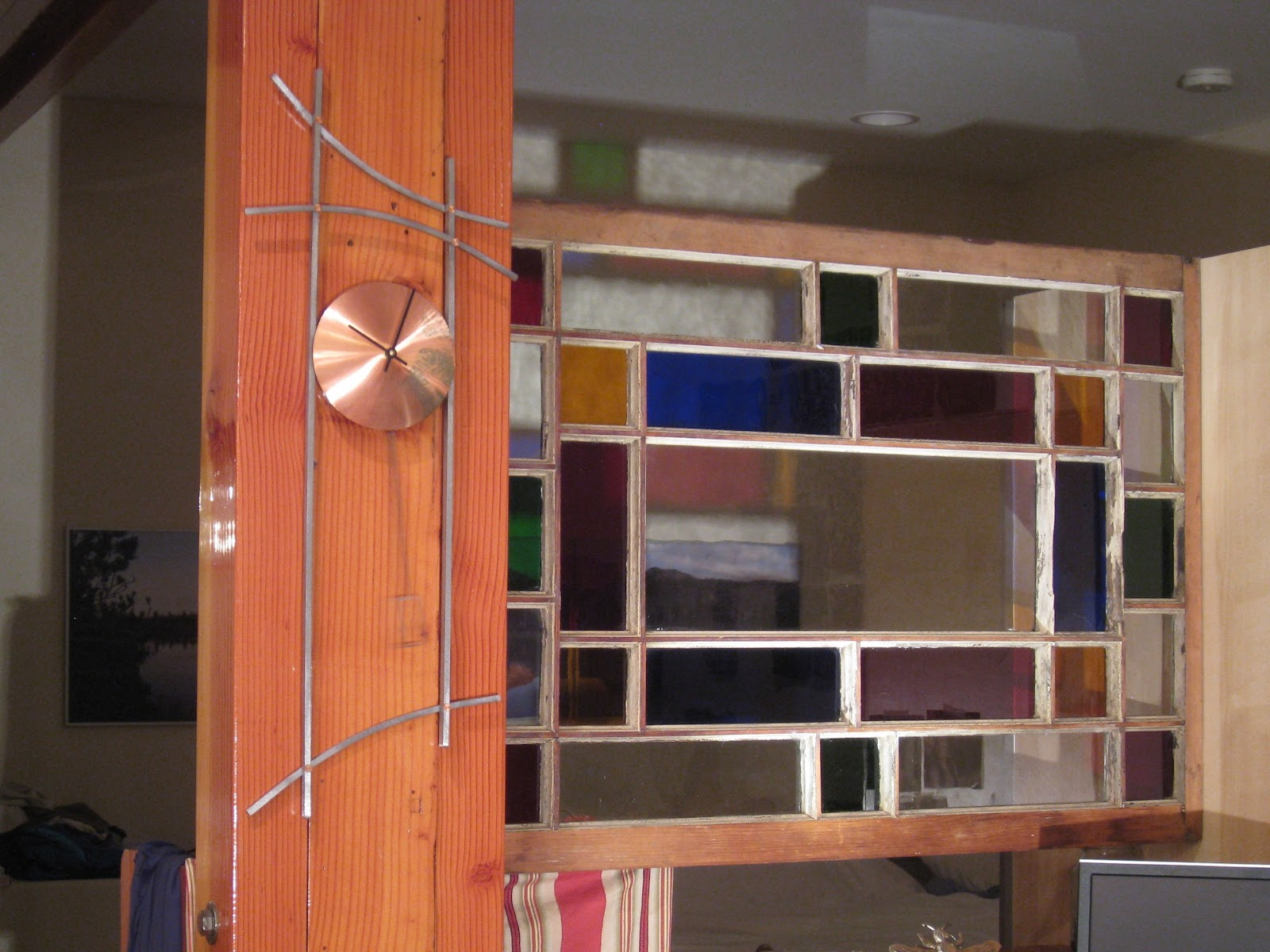 Electric Firehouse Studio: Vintage stained gl window as a room ... on