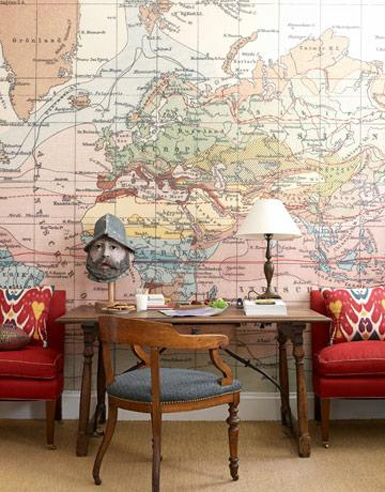 decorating with maps interior design ideas wall decor belle maison