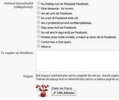 anuleaza contul facebook
