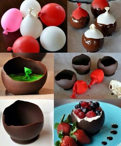 çikolatadan kase nasıl yapılır