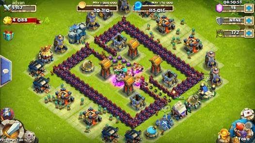 Kumpulan Base Castle Clash / Konflik Kastil Terkuat Untuk HBM Bentuk Kotak