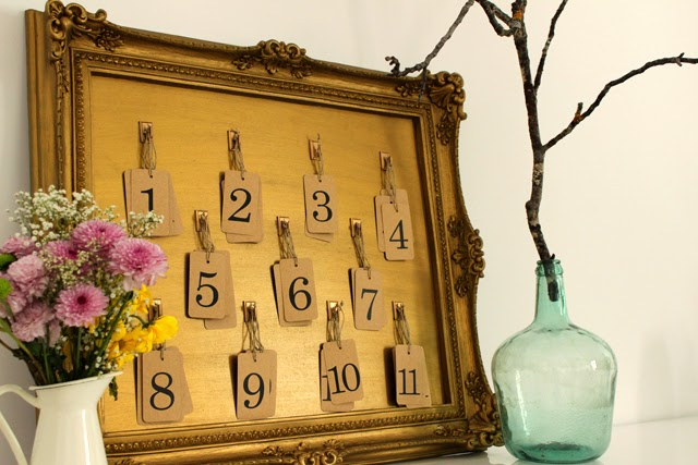 DIY seating plan kraft boda