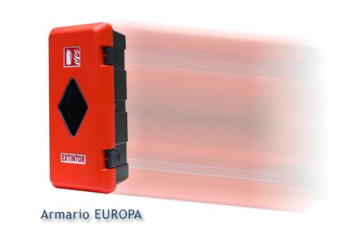 Armario portaextintor EUROPA para extintores de 6 y de 9/12 Kgs.