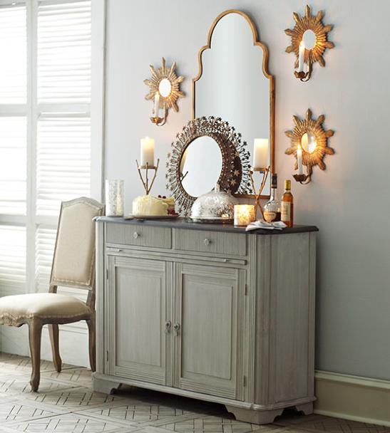 Sunburst Candle Mirrors for Home Decor: Wisteria