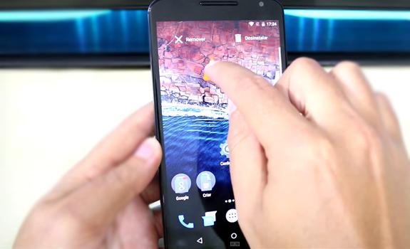 Android M - Opção de excluir ou desinstalar aplicativos na tele inicial