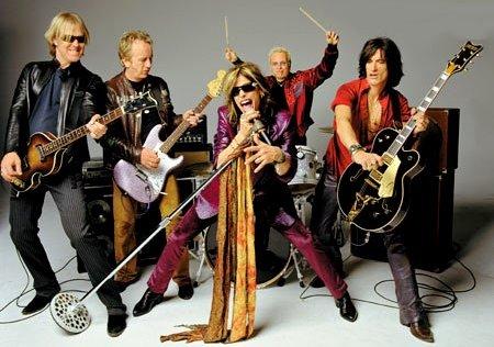 Aerosmith en sesión de foto