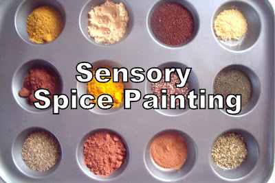 Sensory Painting with Spices
