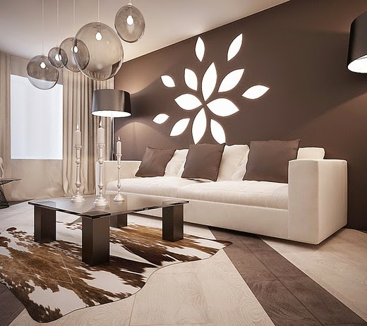 Modern living room with white and beige colors for Modern beige living room designs