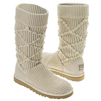 Brown Classic Argyle Knit Ugg Boots American Go Association