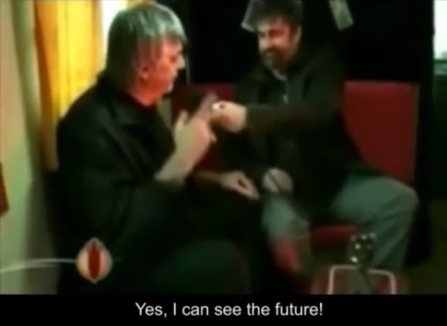 Clairvoyant, Clairvoyance, Future, Supernatural, Foresee the Future, Clairvoyant Fail, Slap, Slapped, Expose, Busted, Liar, English Subtitles, Conversation, Video, Groland, French