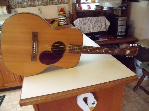 Vintage kay penncrest acoustic guitar mahogany 75 memphis ny