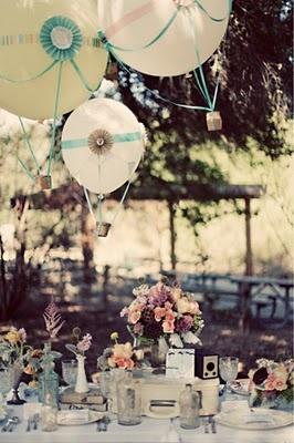 decoration table mariage ballon montgolfière