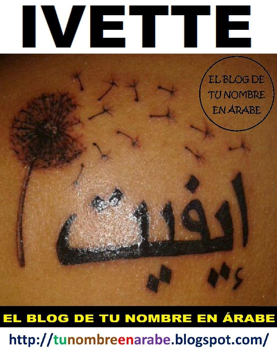 tatuajes de nombres IVETTE