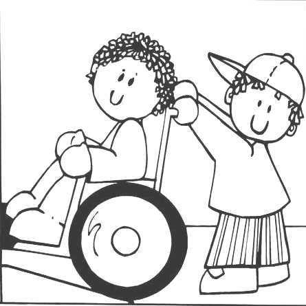 Dibujo Para Colorear Niño Ayudando Otro ~ Ideas Creativas Sobre Colorear