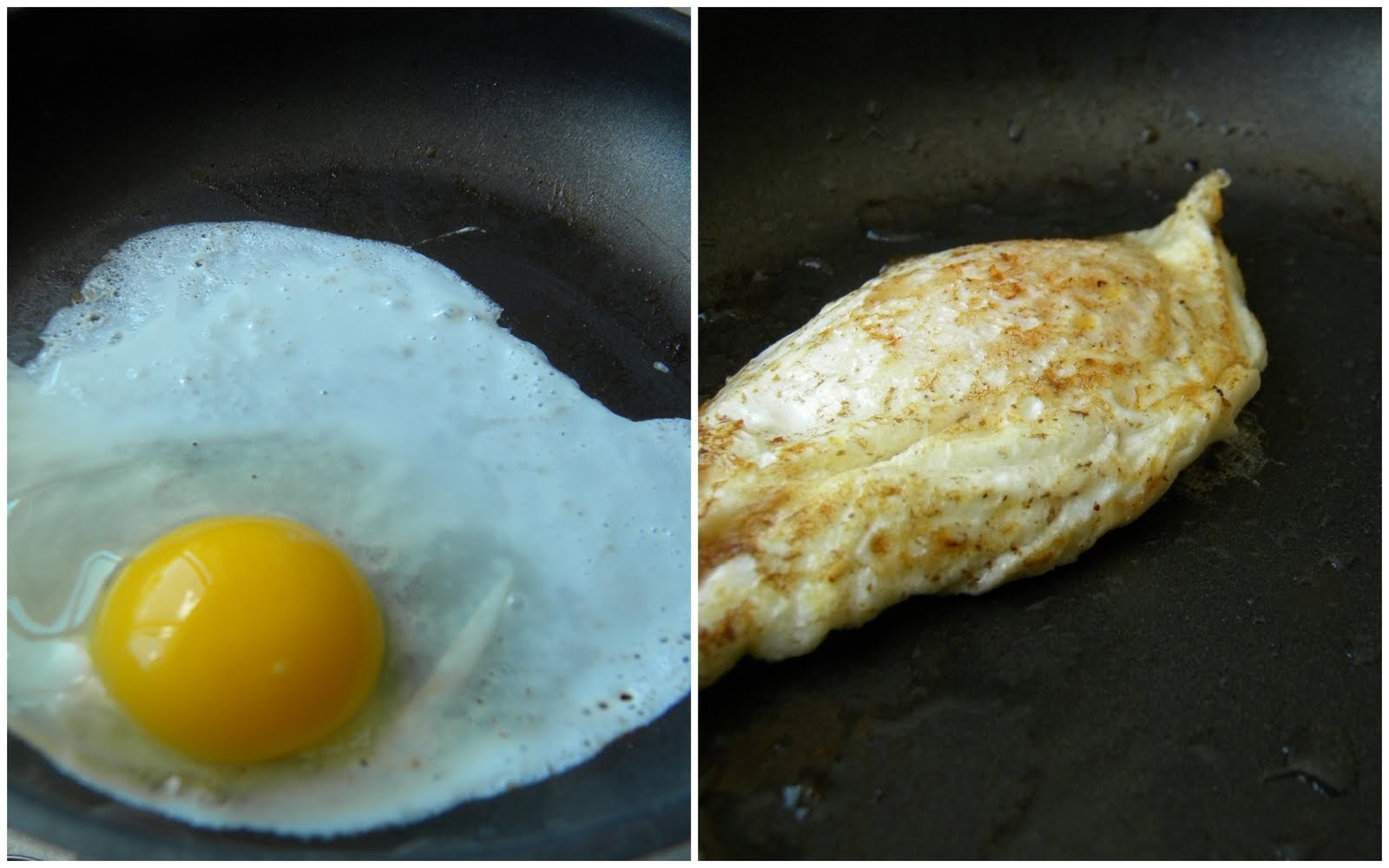how to cook eggs in a regular pan