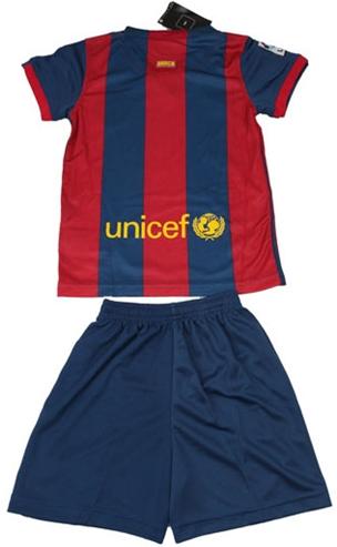 Baju Olahraga Untuk Bocah Kecil Motif Sepak Bola Barcelona Lionel Messi 2014 - 2015