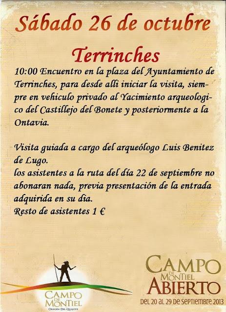 VISITAS-GUIADAS-A-CASTILLEJO-DEL-BONETE-Y-LA-ONTAVIA-PARA-SÁBADO-26-OCTUBRE, Campo de Montiel
