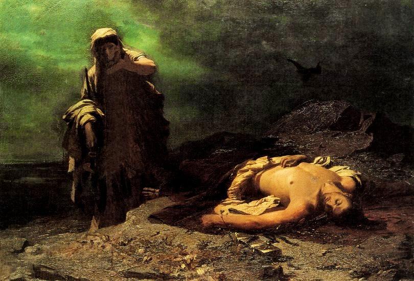 «Η Αντιγόνη εμπρός στο νεκρό Πολυνείκη», έργο του Νικηφόρου Λύτρα, Εθνική Πινακοθήκη της Ελλάδας, Α