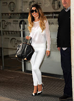 Cheryl Cole in tight white pants