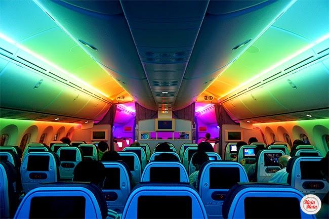 Rainbow ANA Boeing 787 interior