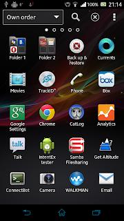 tampilan Xperia Launcher