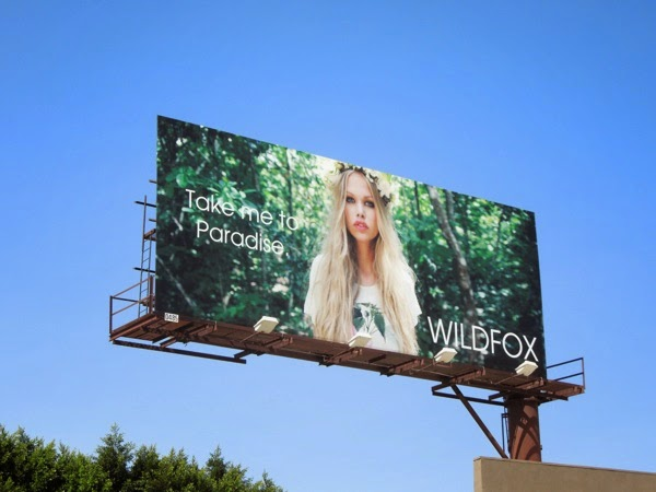 Wildfox Take me to Paradise Spring 2014 billboard