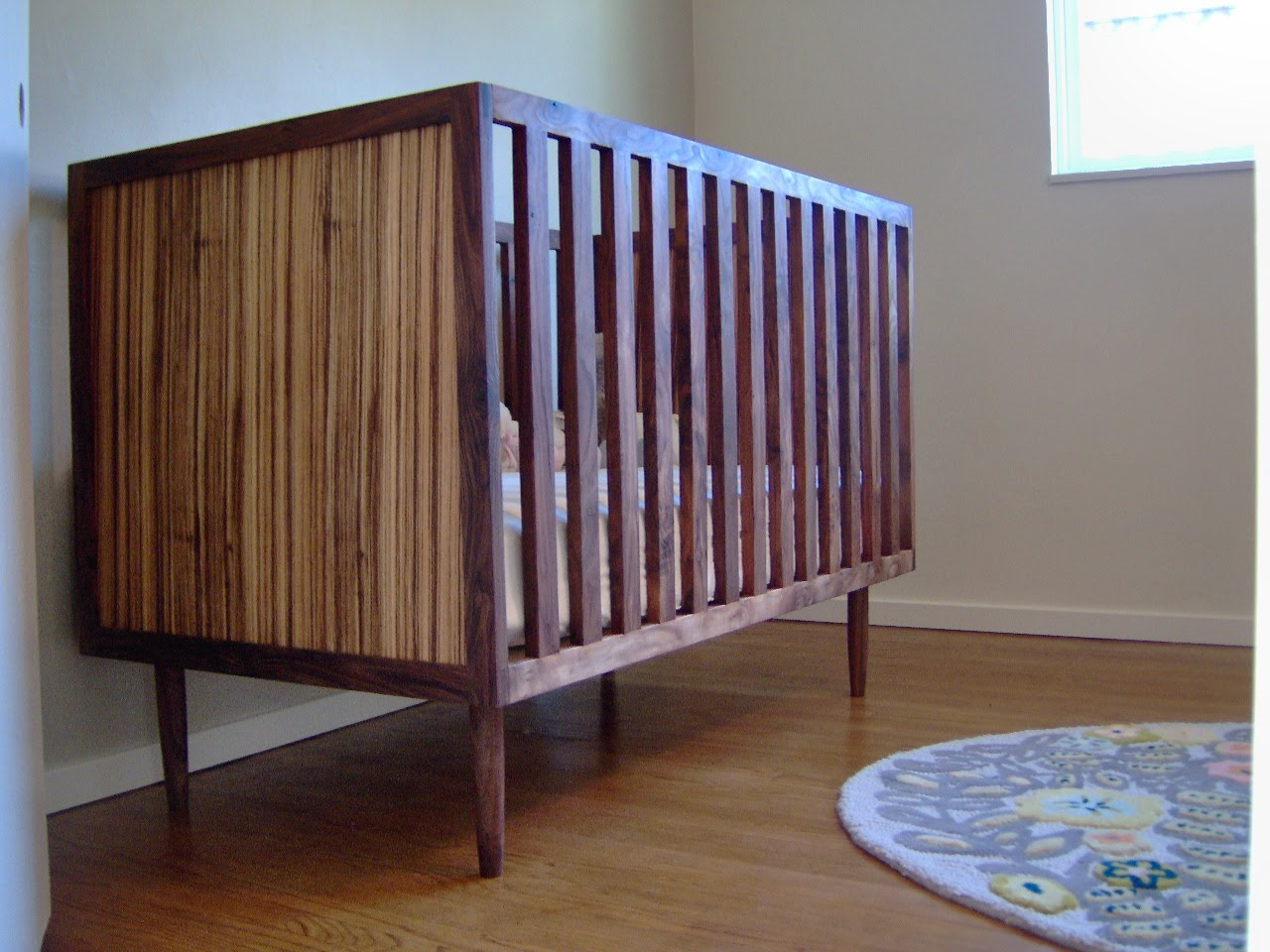 abc expo img crib project modern nursery mid spotted kids newest century at cribs skylar collection