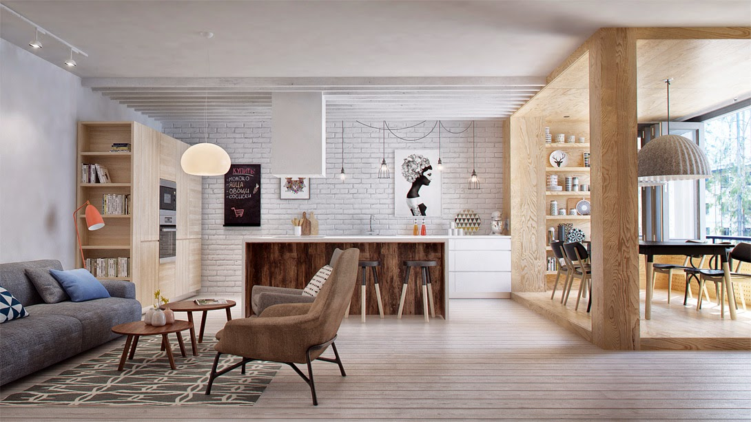 Comment structurer un grand espace blog d co mydecolab - Decoratie interieur bois ...