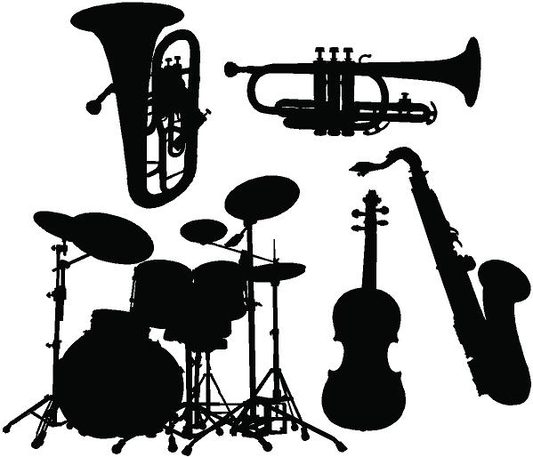 Dzaxvinilos el blog del vinilo siluetas de instrumentos for Vinilos decorativos instrumentos musicales