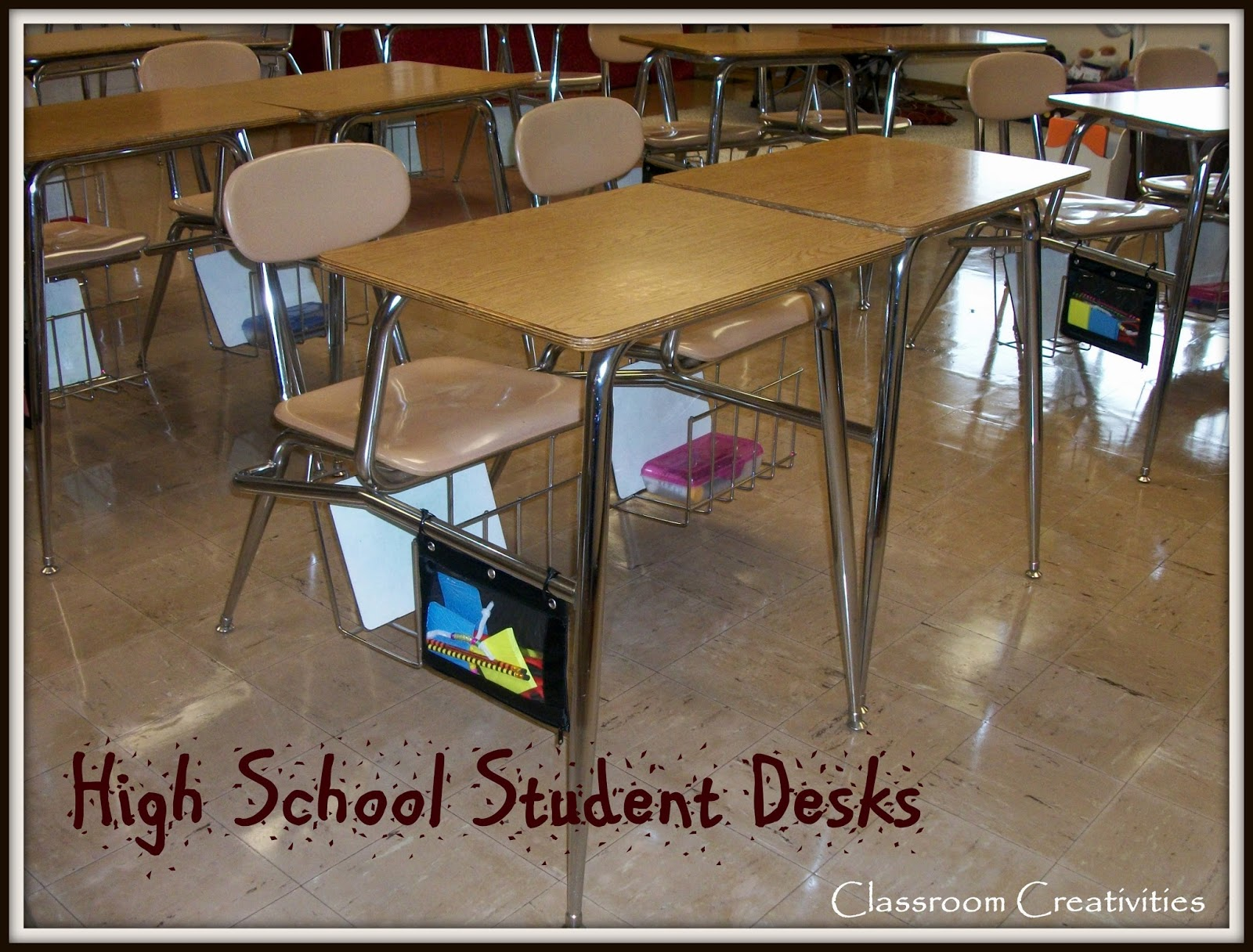 How to organize a middle school students desk?