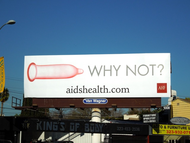 Condom why not billboard