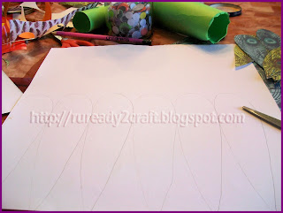 creating template for turkey feathers