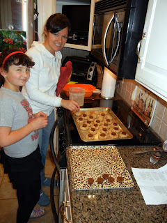 My sister and I making homemade peanut butter cookies
