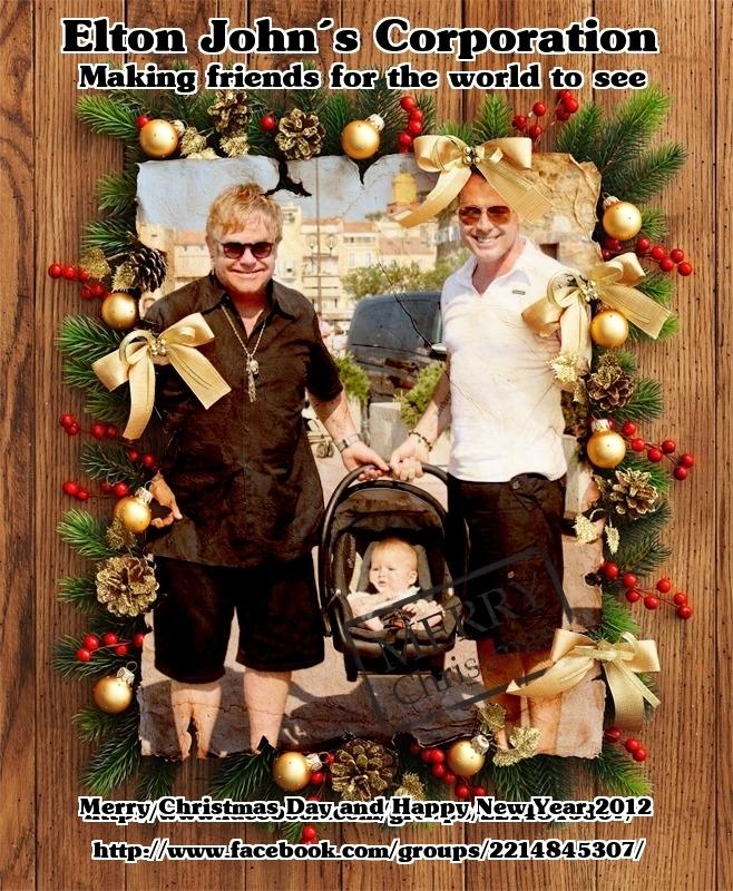 elton john´s pics: Elton John Christmas Card 2011