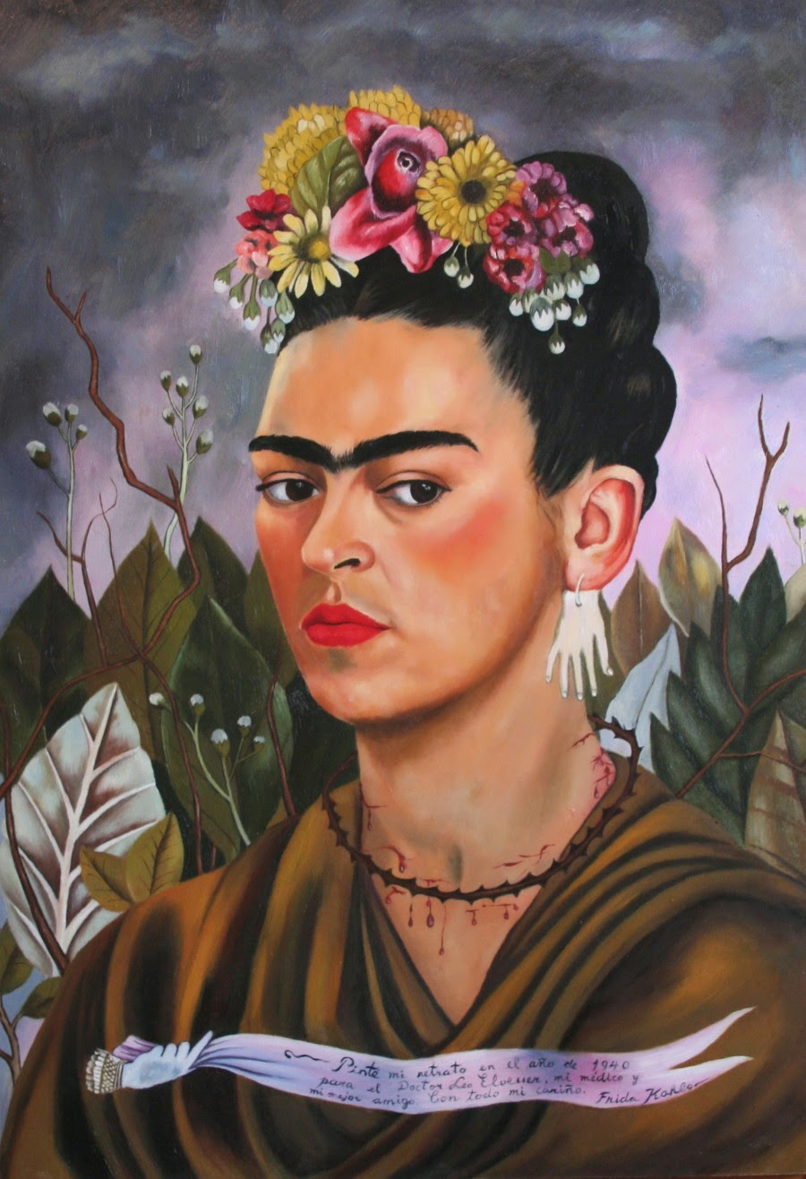 Frida Kahlo | female artists | Discover great women artists at http://schulmanart.blogspot.com/2011/06/ten-women-artists-every-young-girl.html