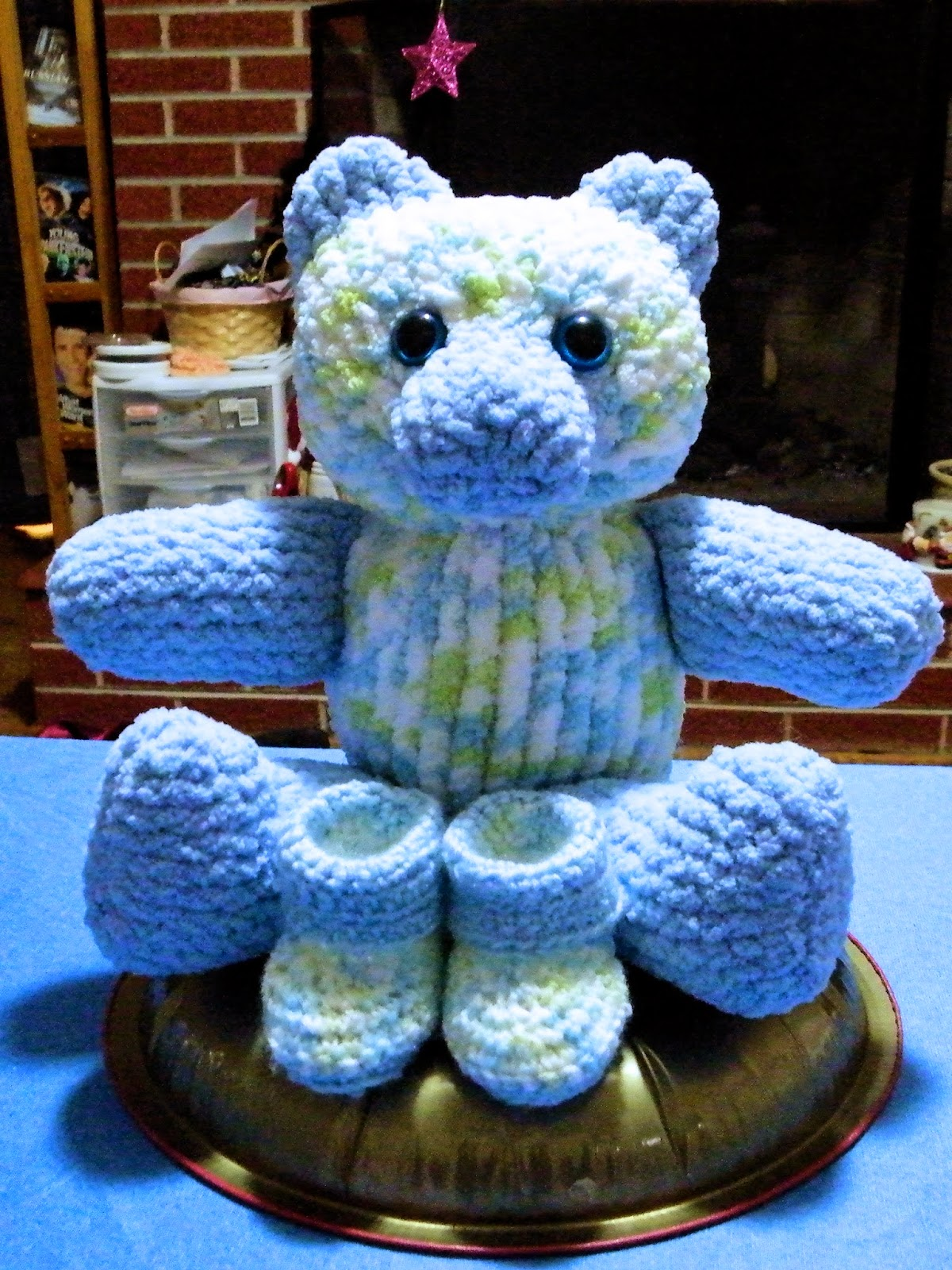 Knitting Patterns Teddy Bear Stuffed Animals : The Loom Muse : How to Loom Knit a Large Teddy Bear