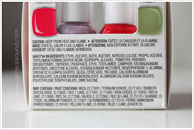 Essie Spring 2012 INCI Ingredient list