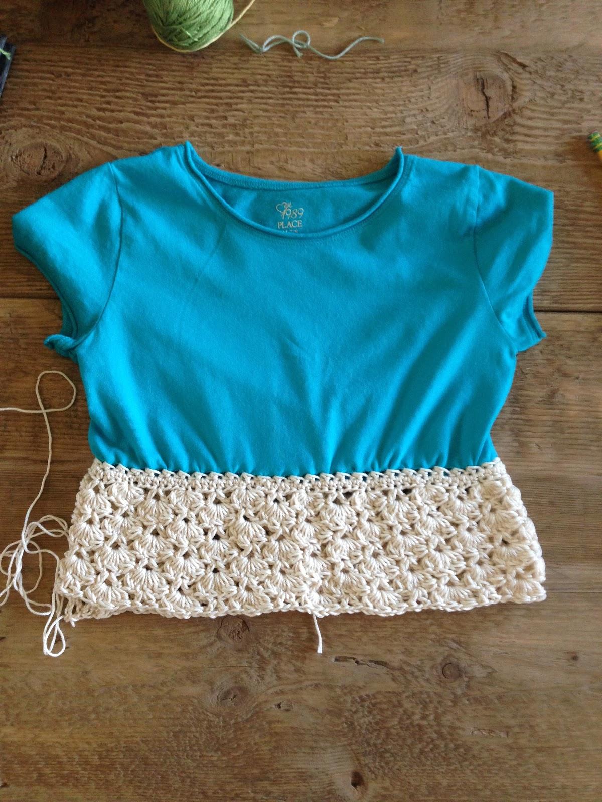 Annoo\'s Crochet World: Up-Cycled Little girl t-shirt Dress Free Pattern